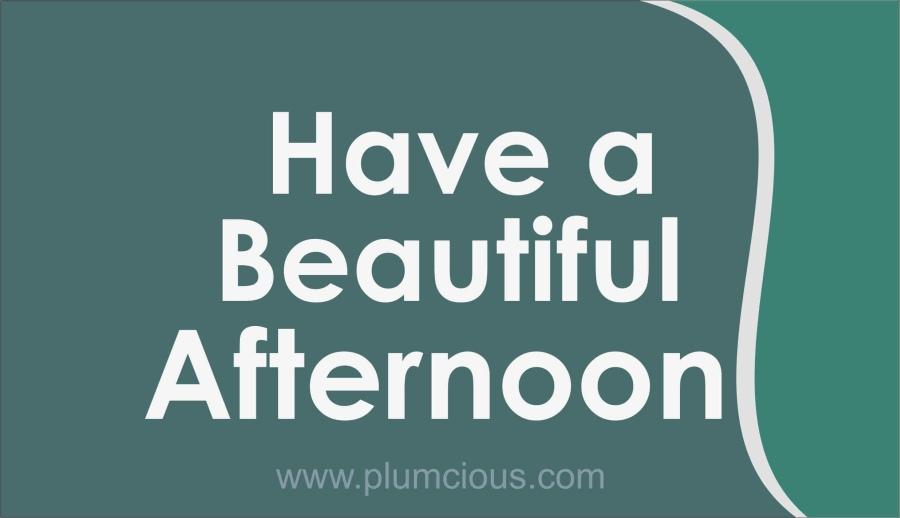 Good Afternoon Greetings